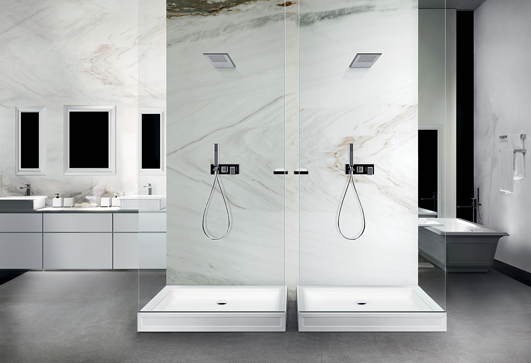 Images For Bathroom Tiles : Fascino Gessi full bath with showers from www.tehroony.com size 1721 x 1176 jpeg 1026kB
